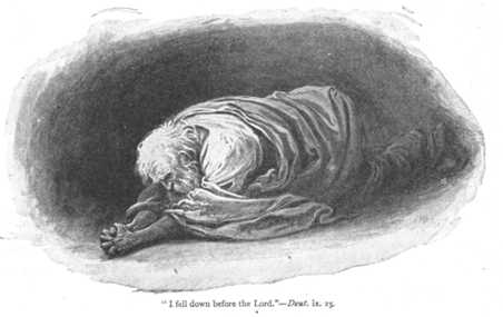 Image result for moses laying prostrate