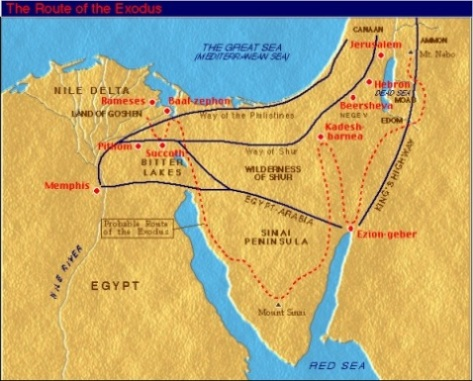 One Year Bible Blog February St One Year Bible Readings - Map of egypt during exodus